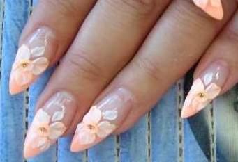 Фото ногти нарощенные без рисунка