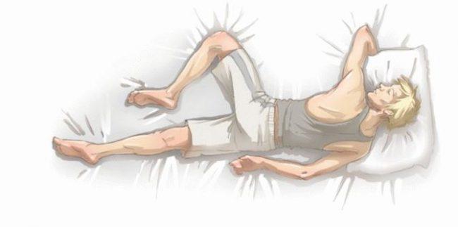 Идеальная поза для здорового сна
