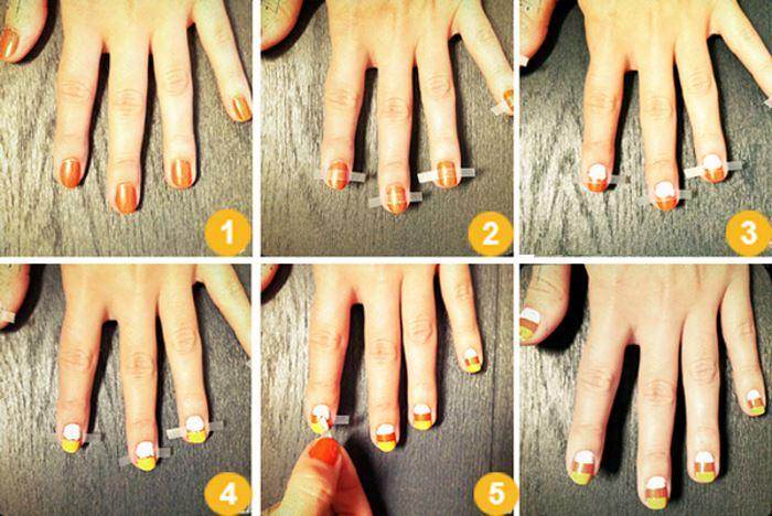 Маникюр легкий для коротких ногтей фото