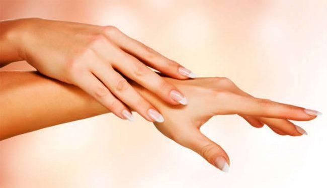 Состояние рук после процедуры