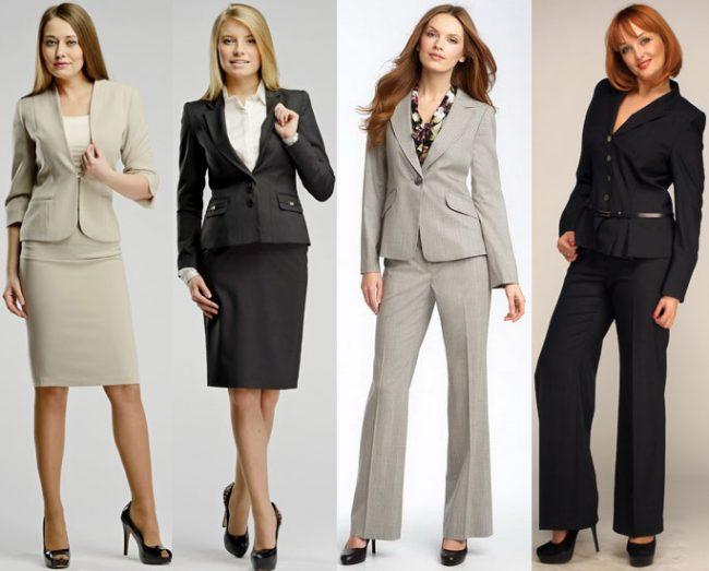 Однотонные офисные костюмы