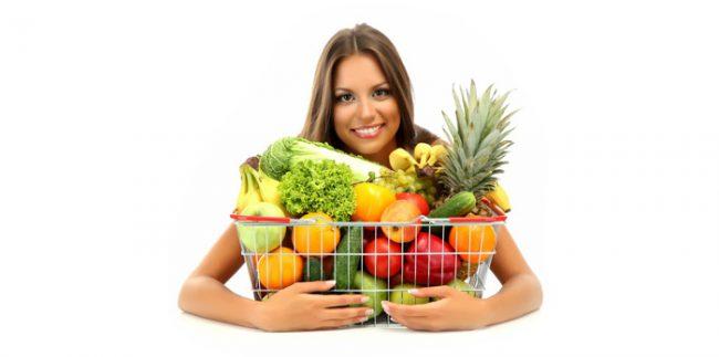 Овощи и фрукты, необходимые при жирной коже