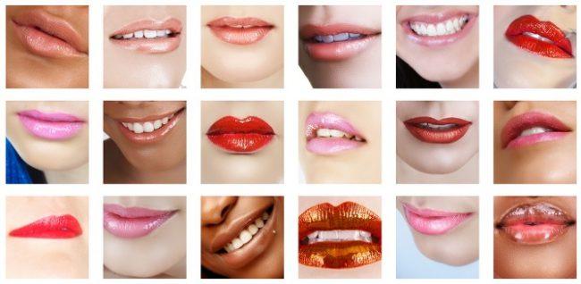 Подбор помады в зависимости от размера губ