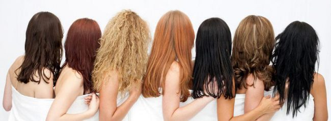 Различные цвета волос