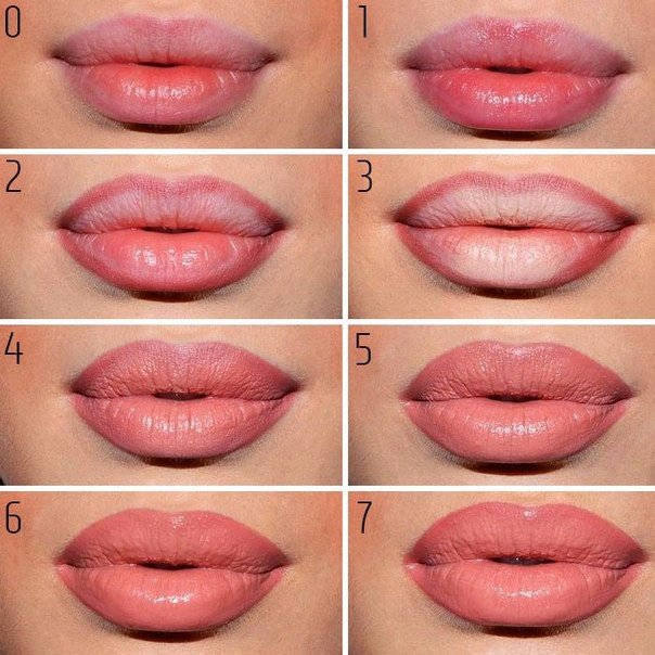 Пошаговое оформление губ