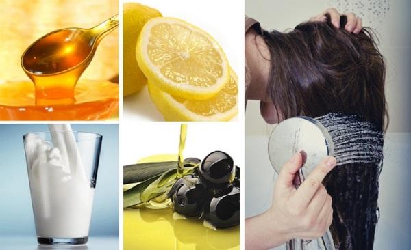 Домашние средства для выведения красящего средства с волос
