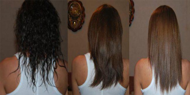 Результаты осветления кефиром: до и после