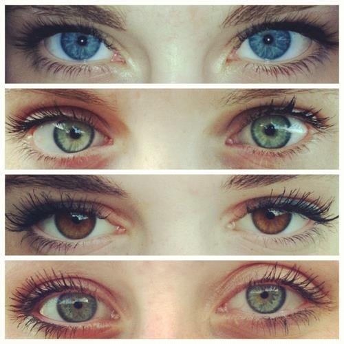 Различные цвета глаз