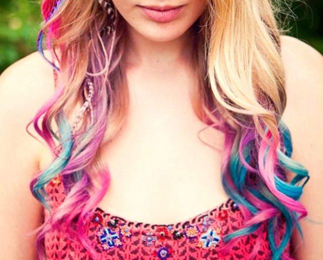 Волосы, окрашенные тоникой