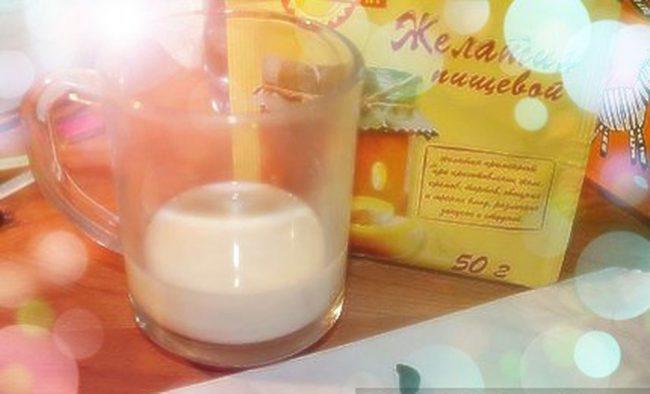 Желатин и молоко