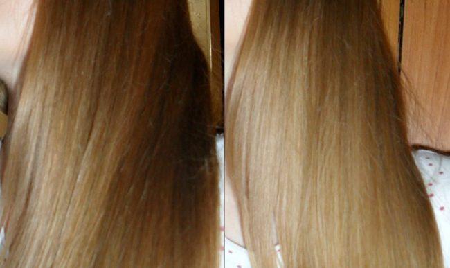 Результаты осветления корицей: до и после