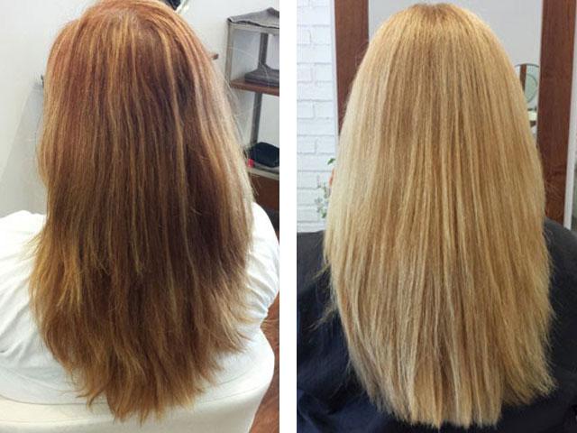 Результат осветления светлых волос