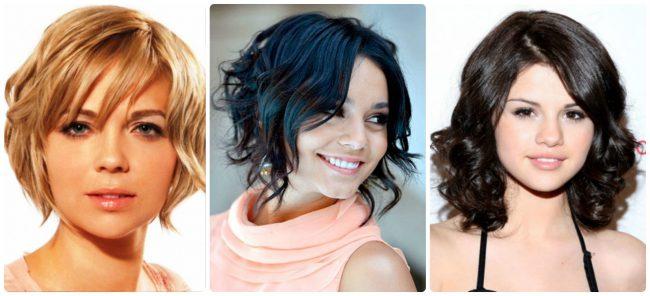 Варианты на вьющиеся волосы