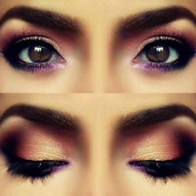 Насыщенные цвета макияжа для карих глаз