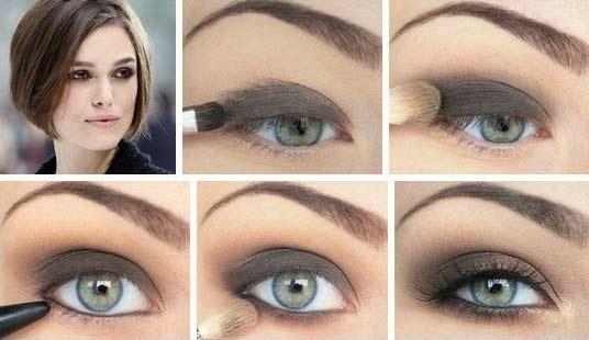 Серый макияж для серых глаз