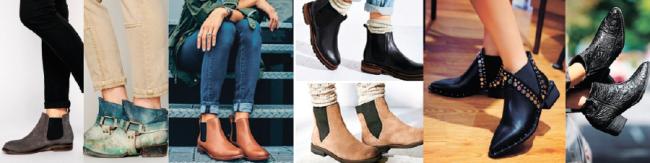 Ассортимент женских ботинок