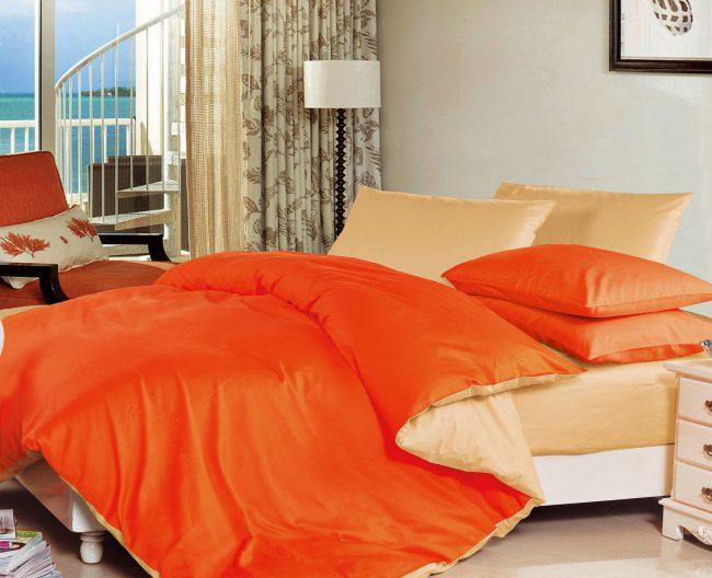 Оранжевое постельное белье