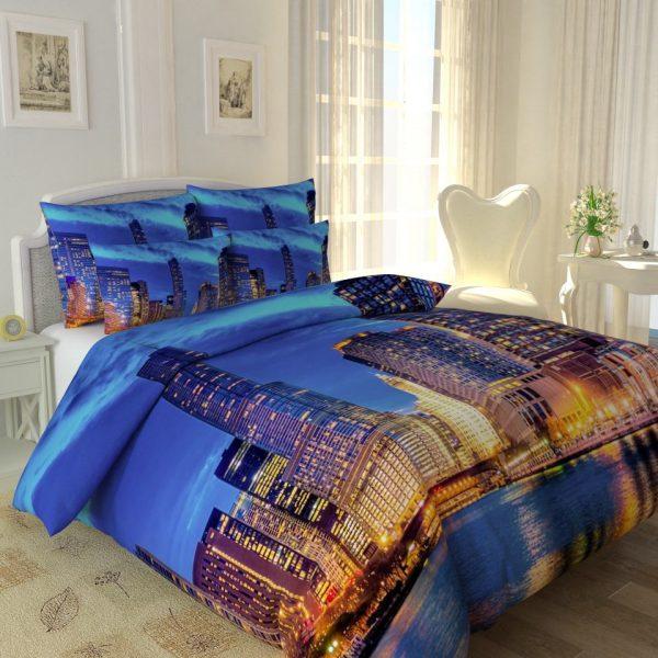 Рисунок зданий на постельном белье