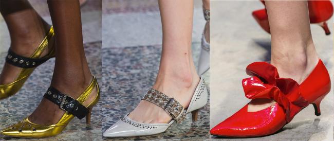 Туфли с каблуком рюмочка