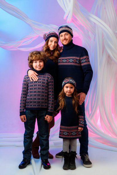 Этнические орнаменты на трикотажной одежде