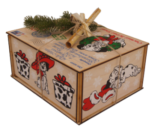 Картонная коробка для подарков