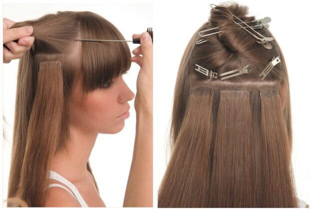 Волосы для наращивания на лентах