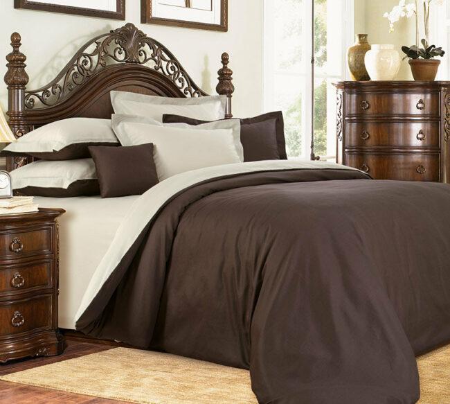 Коричневое постельное белье